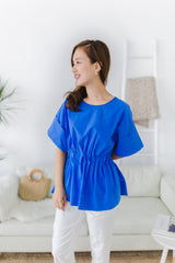Banding Blouse Blue