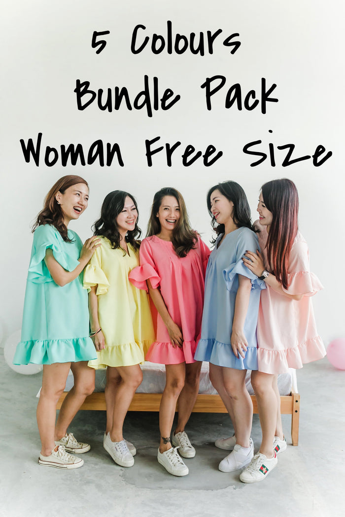 [BACKORDER] Tunic Top Paddle Pop 5 colours Bundle Pack