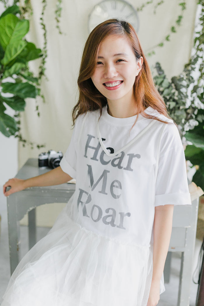 Hear Me Roar T-Shirt White (Woman/ Kid)