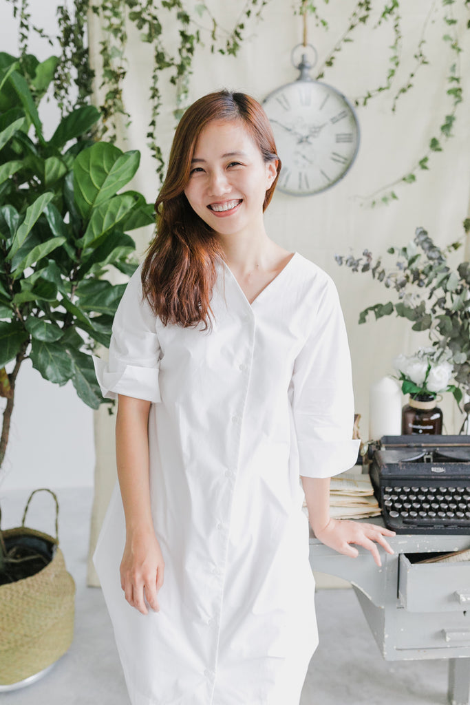 [PREORDER] Shirt Dress (White)