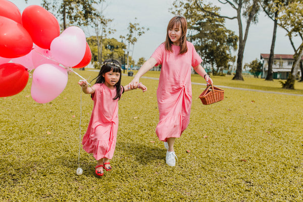 Be Sweet Ariel Dress Girl (Linen Pink)