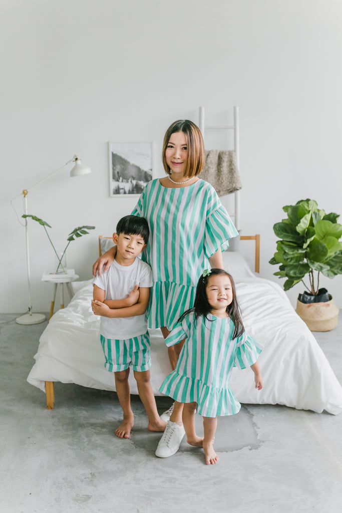 Stripes Wonderland Dress Peppermint (Woman/ Girl/ Boy)