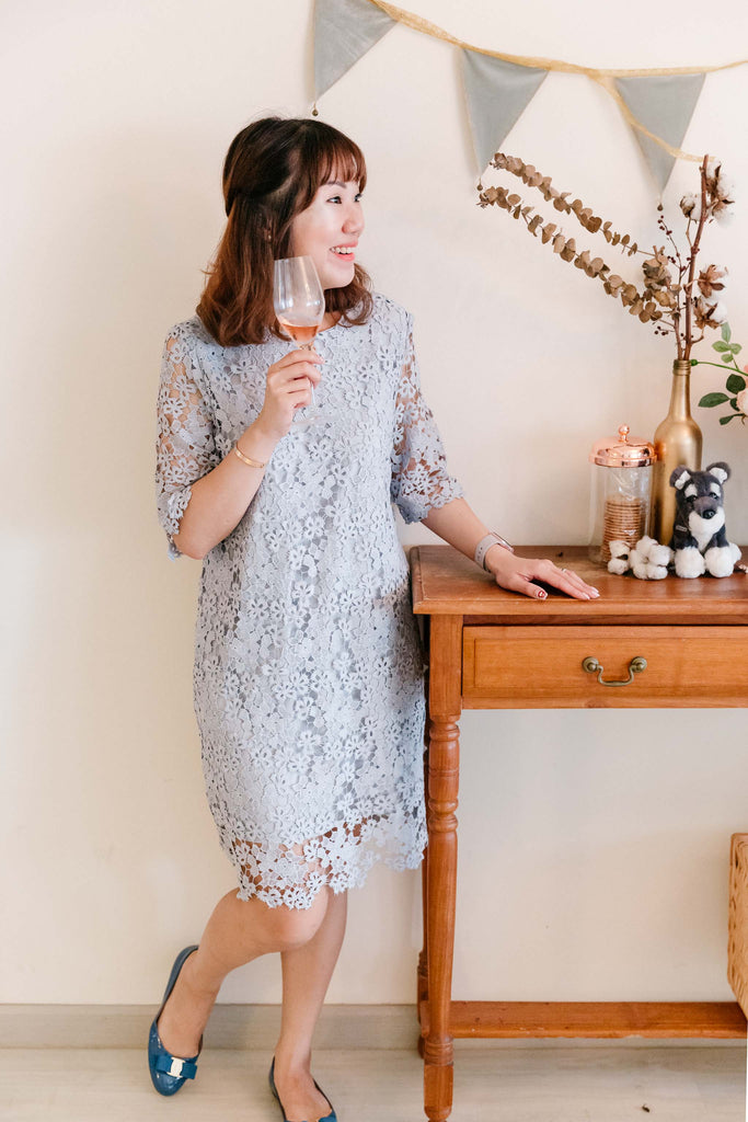 Chantilly Lace Tea Dress Cream