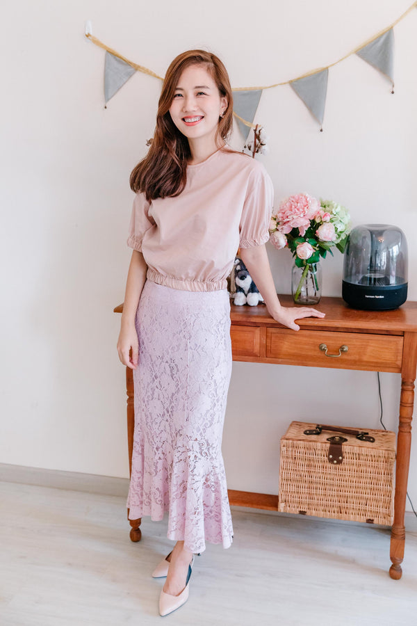 Mermaid Lace Skirt Pink