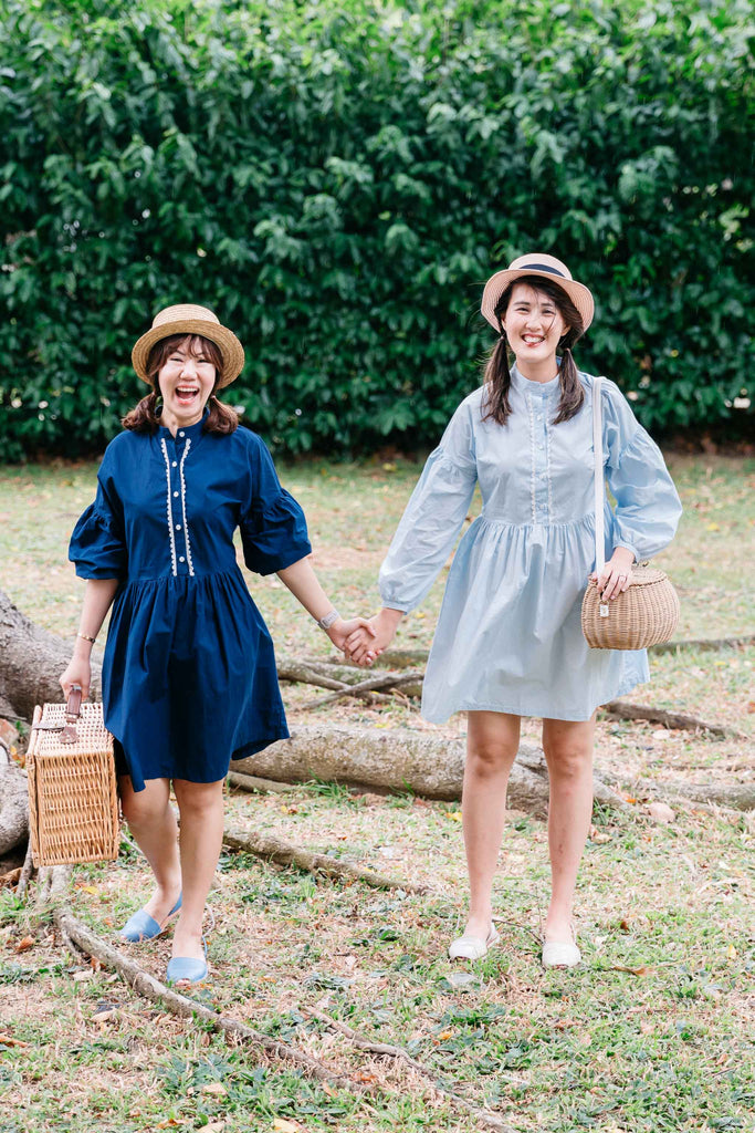 [PREORDER] Whimsical Wanderlust Dress Country Tales Blue