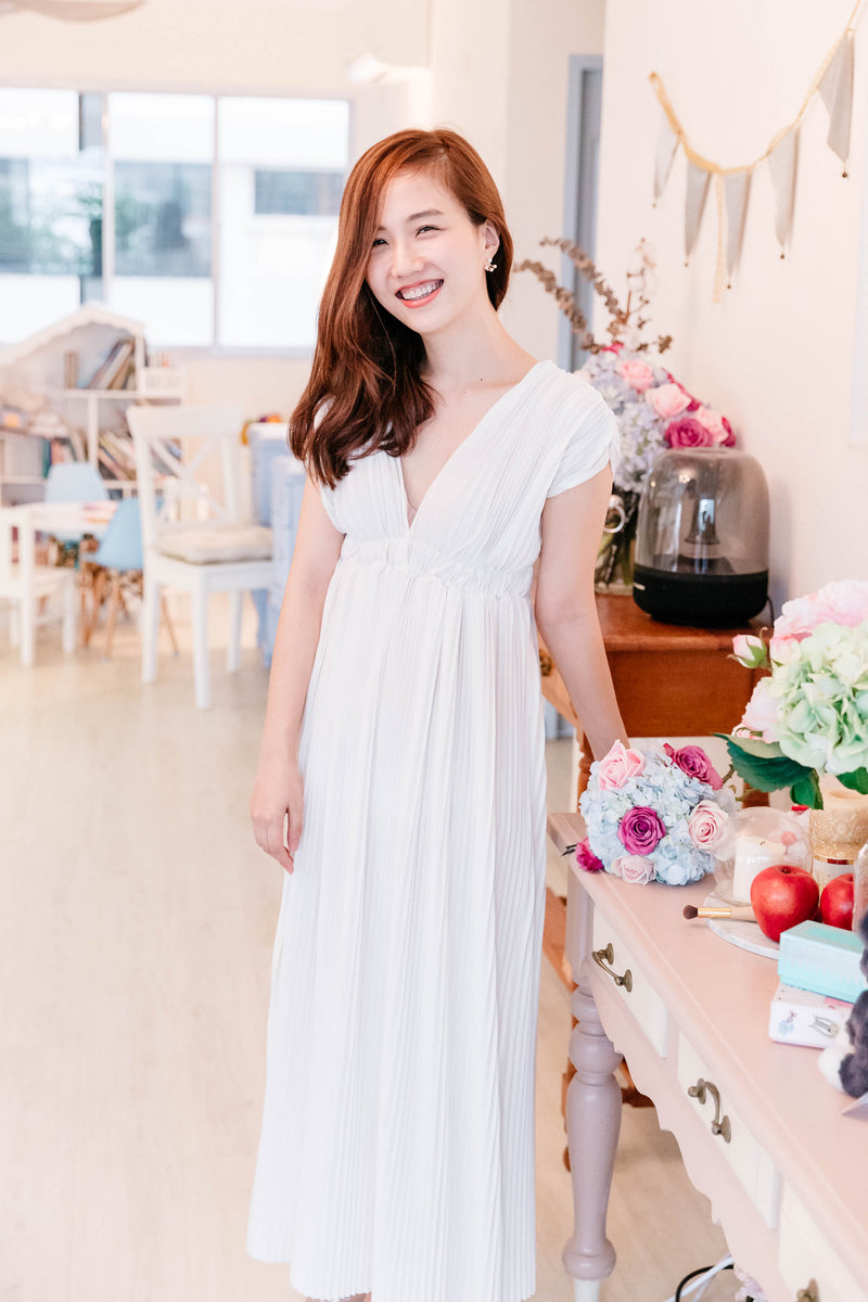 [PREORDER] Athena Goddess Dress Mother of Pearl