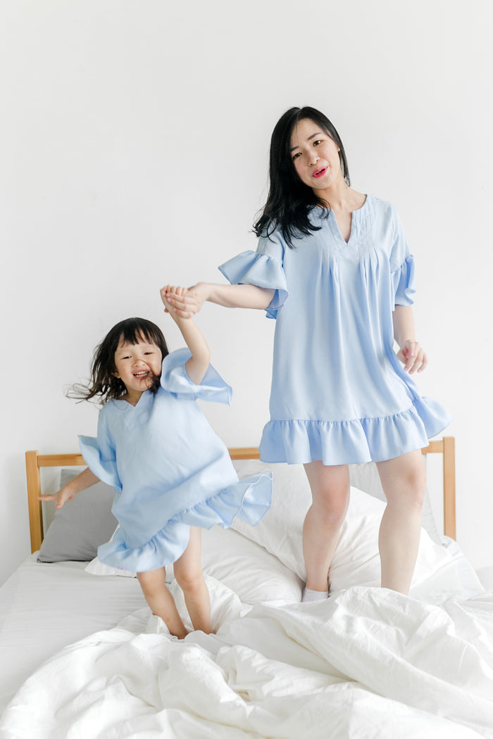 [4th Restock] Tunic Top Serenity Blue (Mum/ Girl)