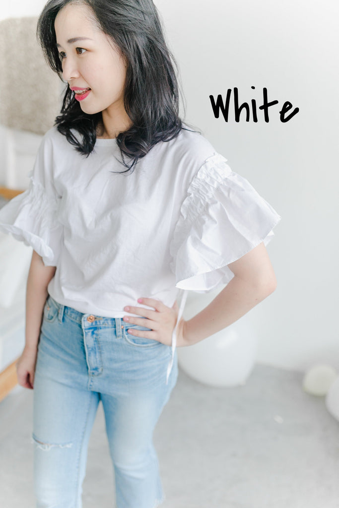 Wing T-Shirt (White, Lavender, Pink)