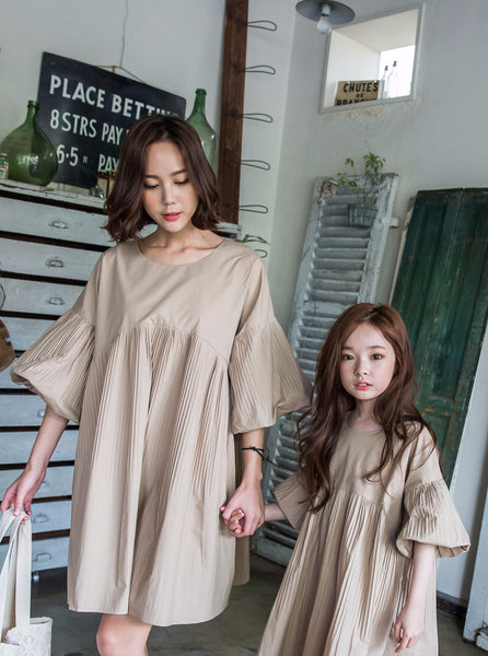 Mins Dress Natural Brown Mum