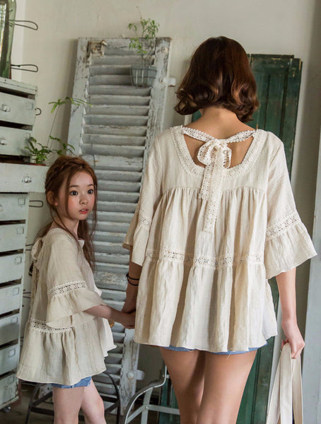 [PREORDER] Lace Blouse Cream Mum 2nd Restock
