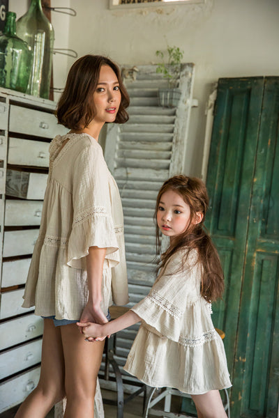 [2nd Restock] Lace Blouse Cream