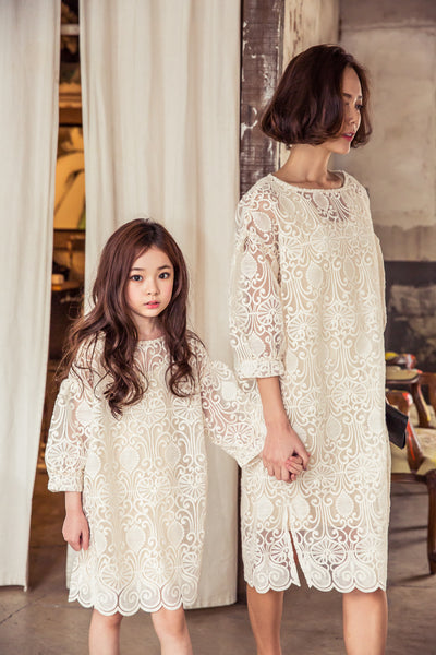 [2nd restock] Lace Dress Beige
