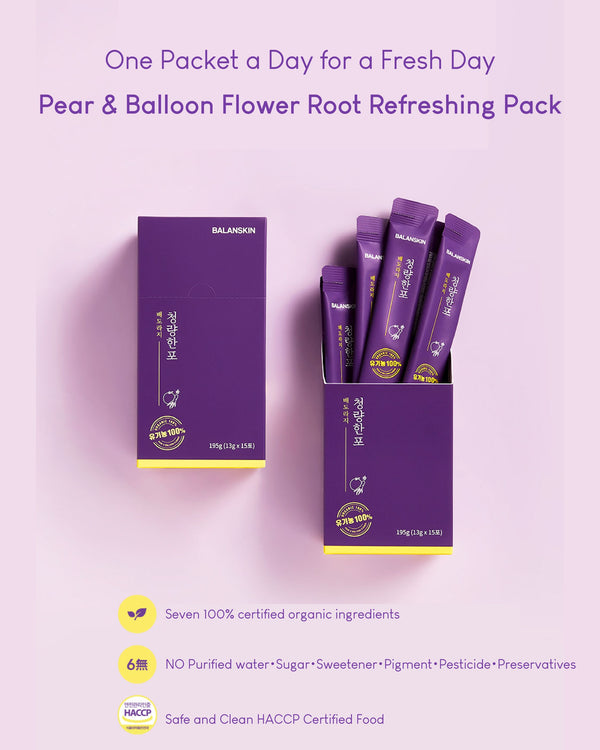 Balanskin Pear & Balloon Flower Root Refreshing Pack