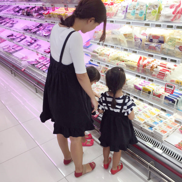 [5th Restock] Twirly Swirly Kiss Dress Black Mom
