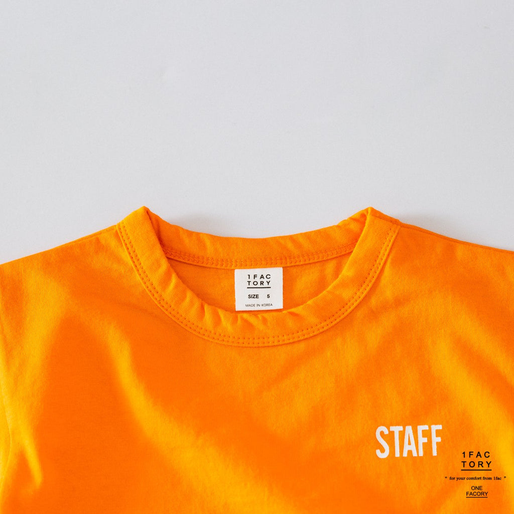 Tyler Look (V Staff T-shirt White/ Orange/ Black)