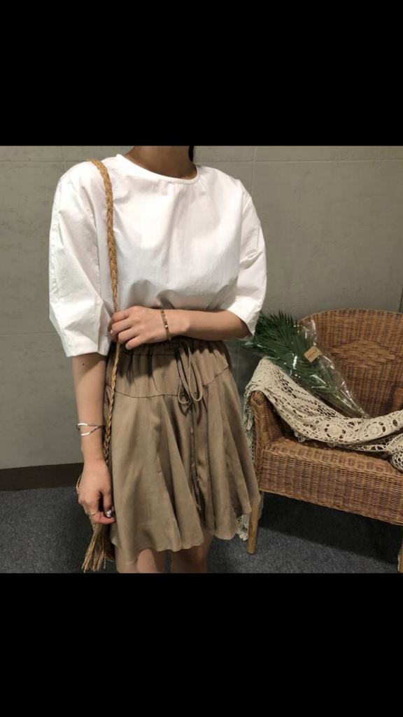 [2nd Restock] Flowy Skorts (Beige/ Army Green/ Black)