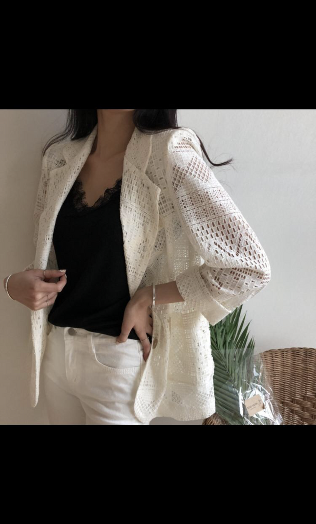 Crochet Cream Jacket