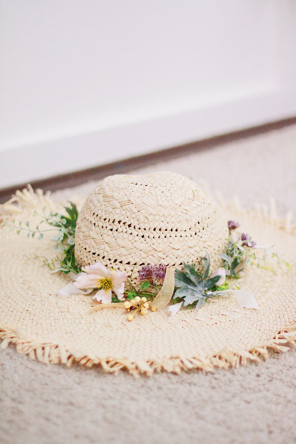 Floral Straw Hat (Girl)