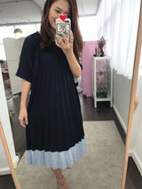 Flare Pleated Dress (Woman Free Size)