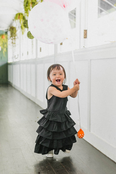 [PREORDER]Kayla Blossom Dress Black