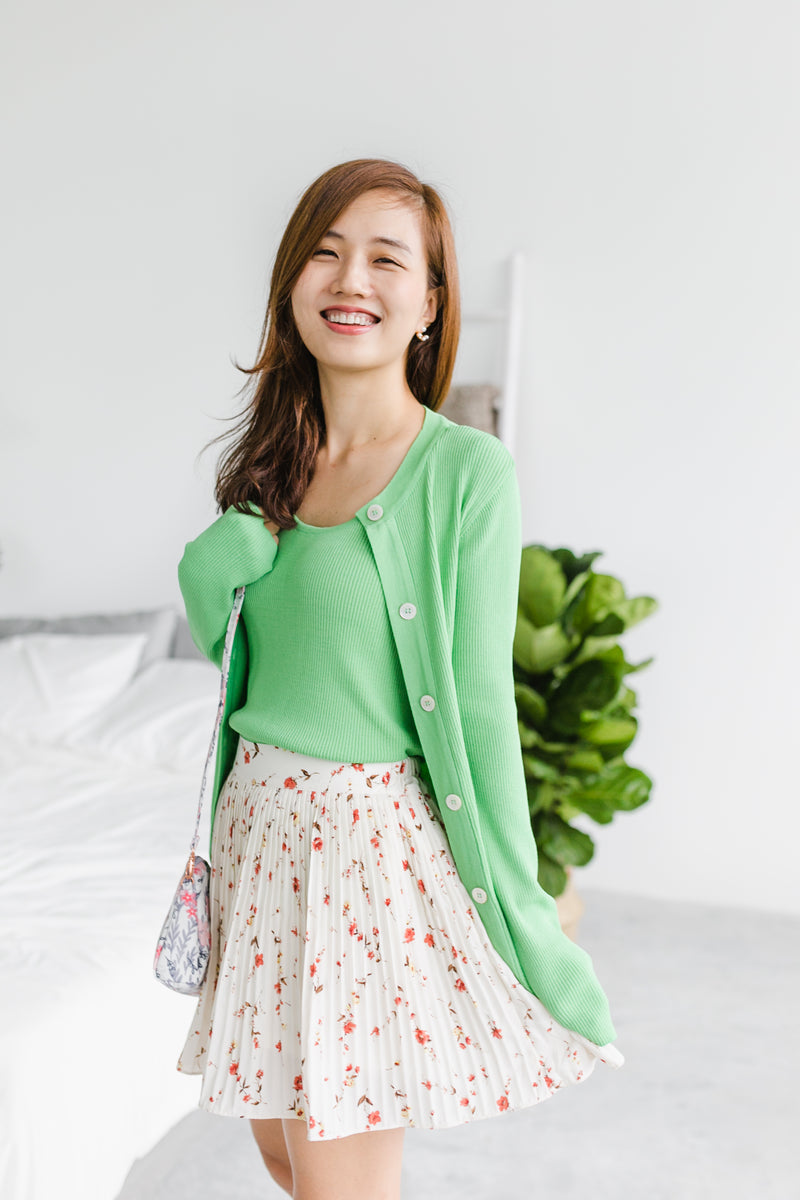 [PREORDER] Green Cardigan Set