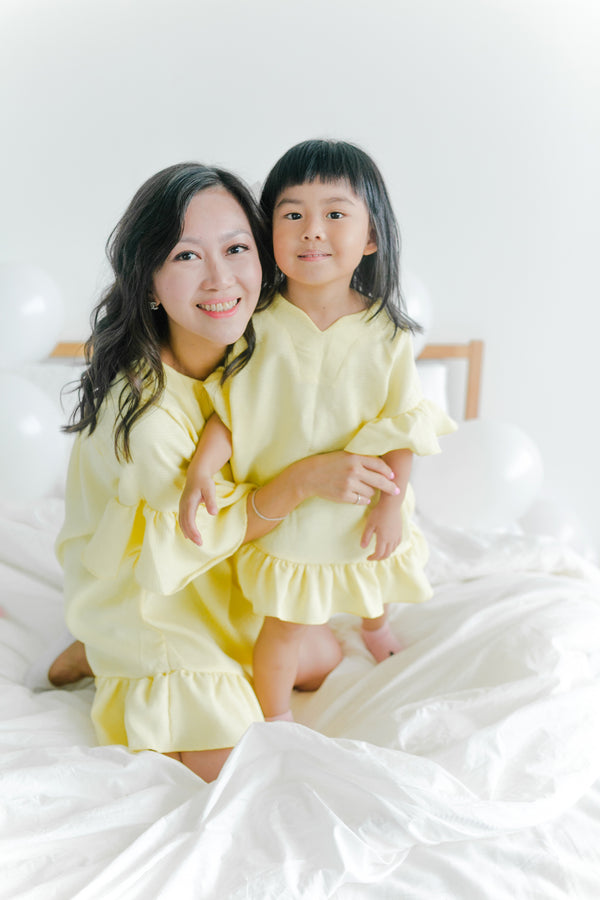 Tunic Top Yellow (Mum/ Girl)