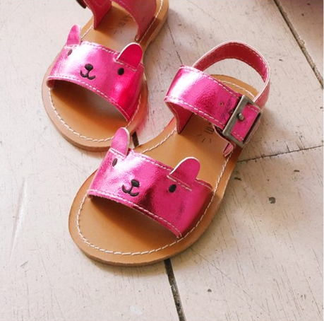 Meow Sandals Hot Pink - ksisters.sg