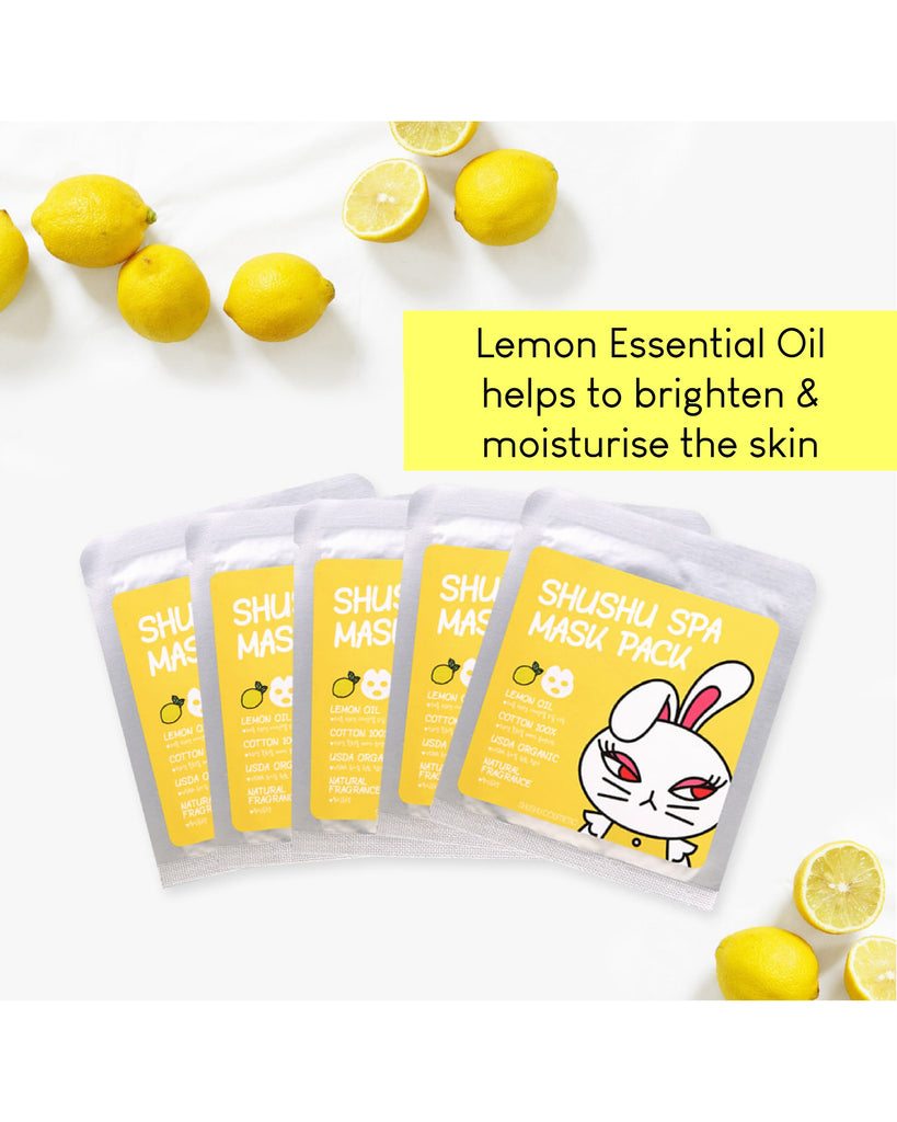 ShuShu Spa Mask Pack (Lemon/ Orange/ Lavender)