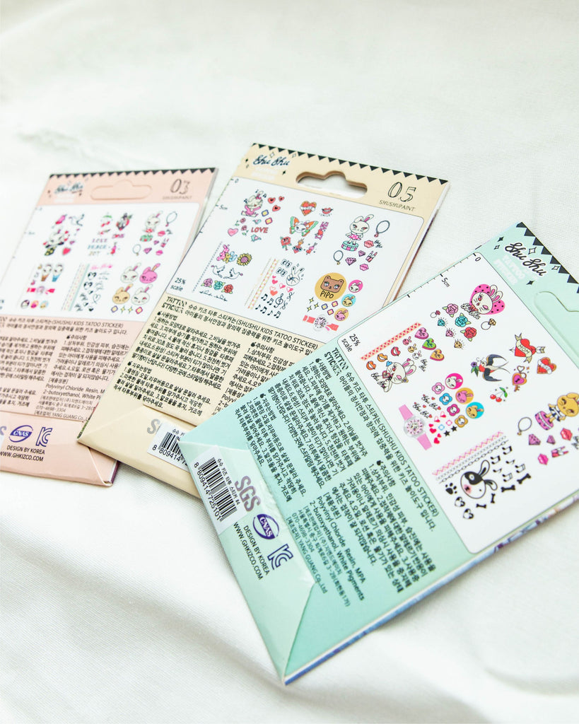 [Readystock] ShuShu Kids Tattoo Sticker