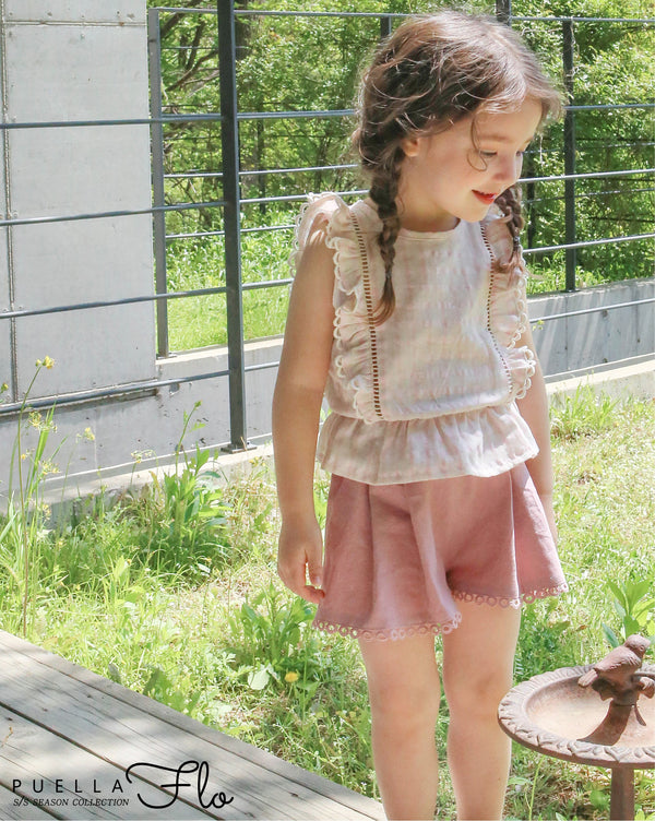 Vintage Checkered Pink Blouse (Girl)