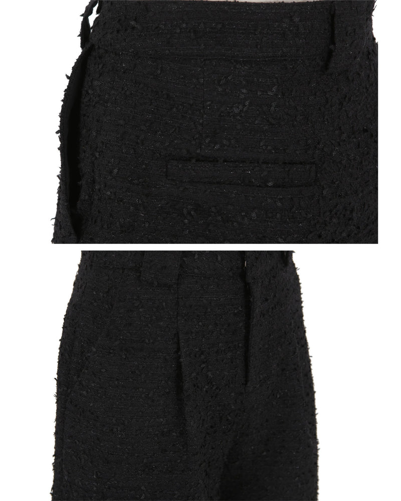 Mademoiselle Tweed Jacket / Shorts (Black/Ivory)