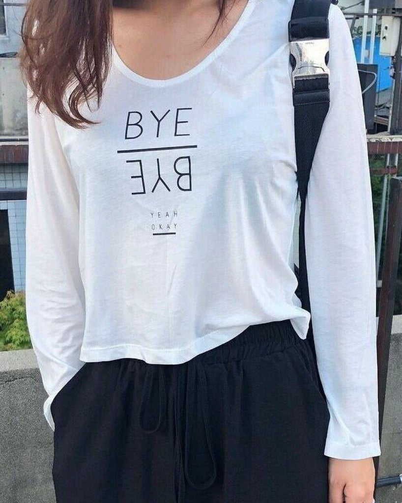 Bye Bye Basic T-shirt (Woman Free Size)