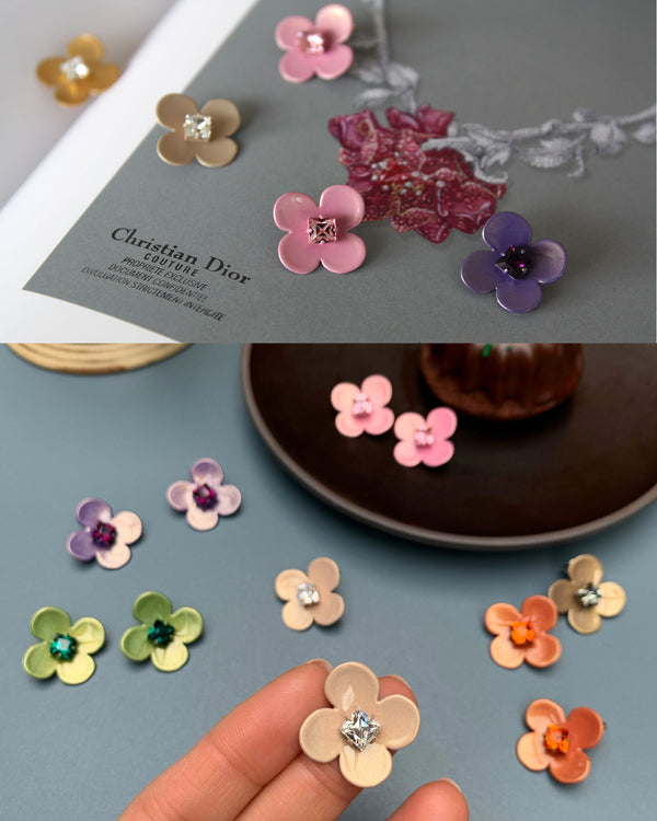 W.SEN SS2020 Petit Fiore Pop Earrings (6 Colours)