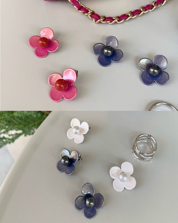 W.SEN SS2020 Petit Fiore Pop Pearl Earrings (7 Colours)