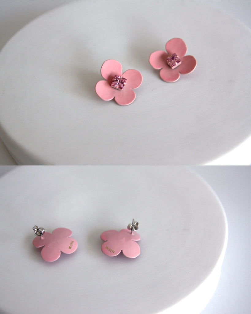 W.SEN Petit Fiore Pop Earrings (4 Colours)