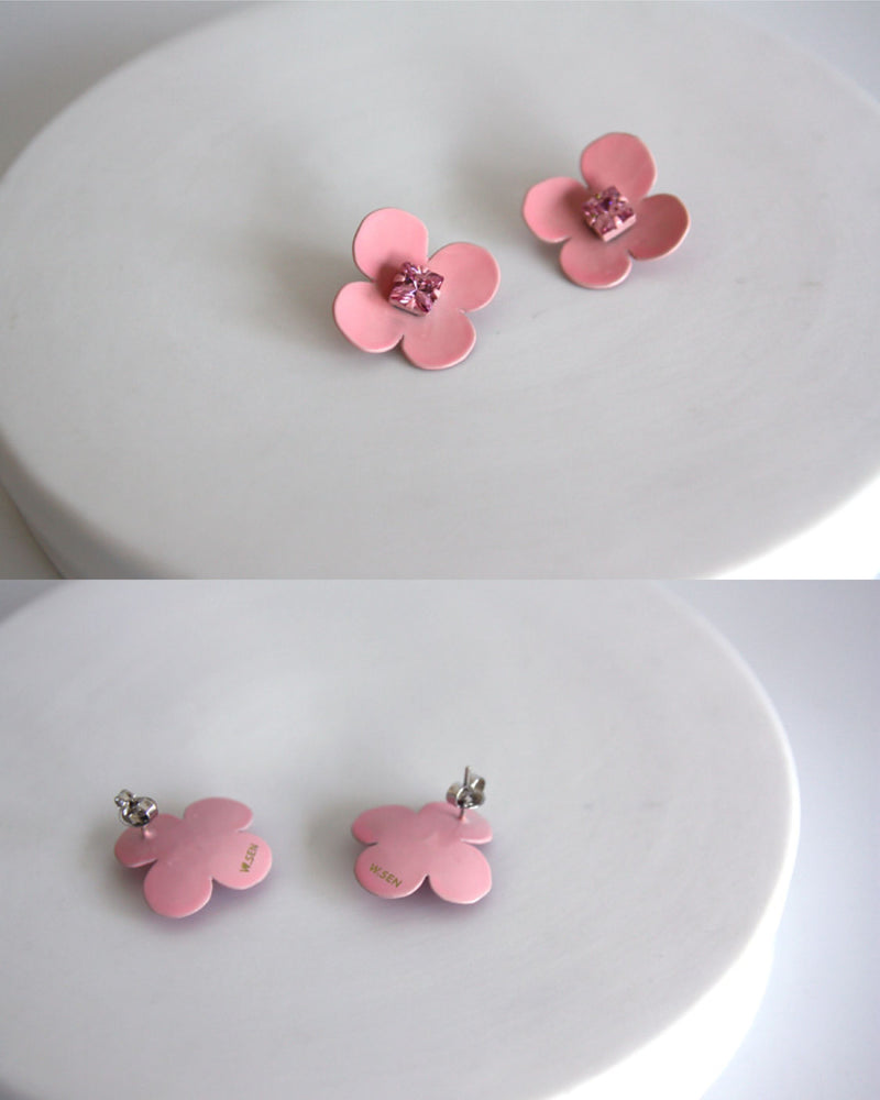 W.SEN SS2019 Petit Fiore Pop Earrings (11 Colours)