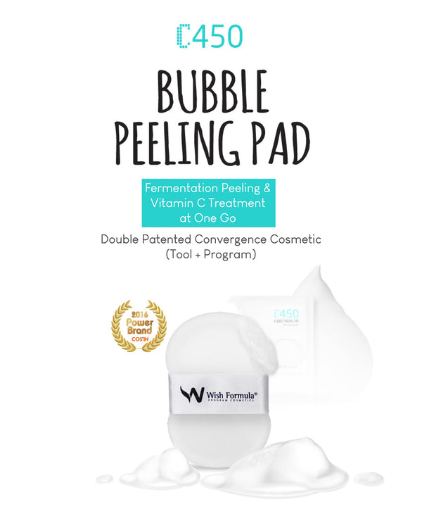 Wish Formula C450 Bubble Peeling Pad for Body (4 Pads)