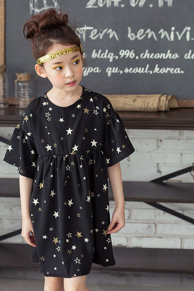 [3rd Restock] Black Star Dress