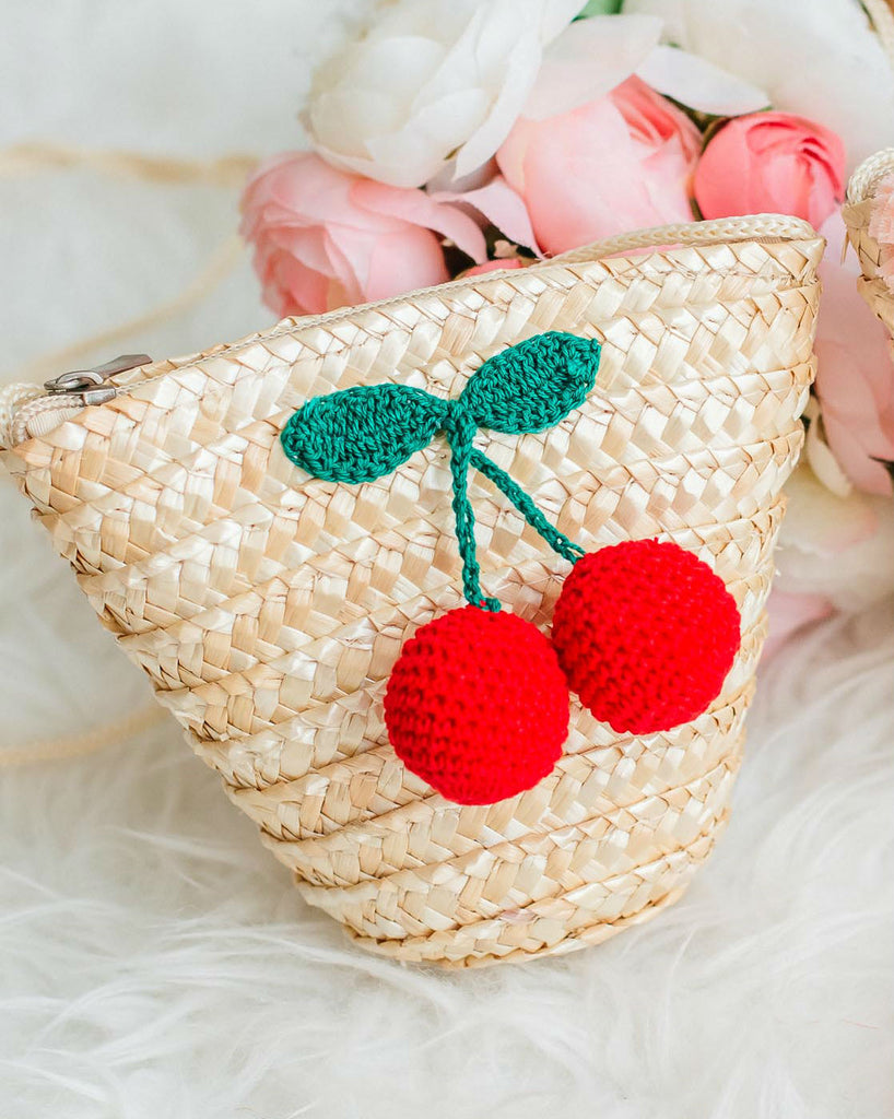 Cherry Straw Bag