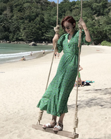 Mimiciel Green Wrap Dress