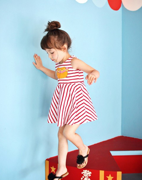Hotdog Dress Red - ksisters.sg