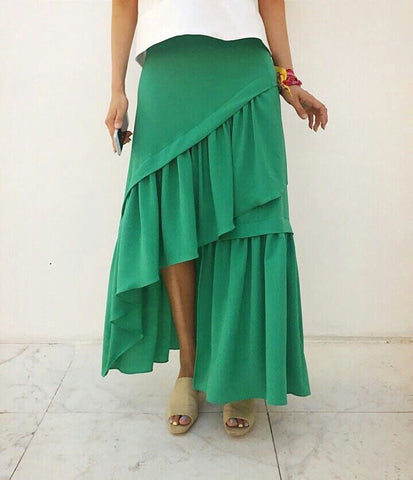 [3rd restock] 3 Layered Skirt Green