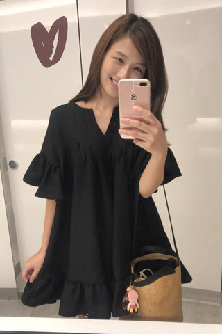 [BACK ORDER] Tunic Top Black