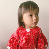 Puff Sleeve Top Red Girl