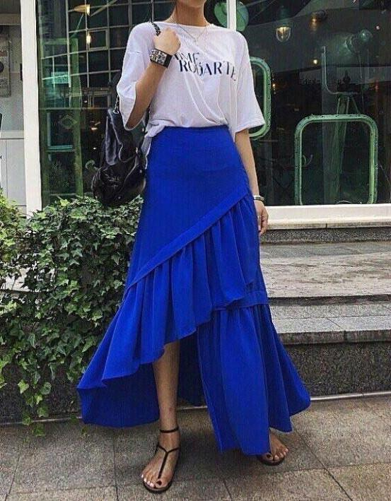 3 Layered Skirt Blue