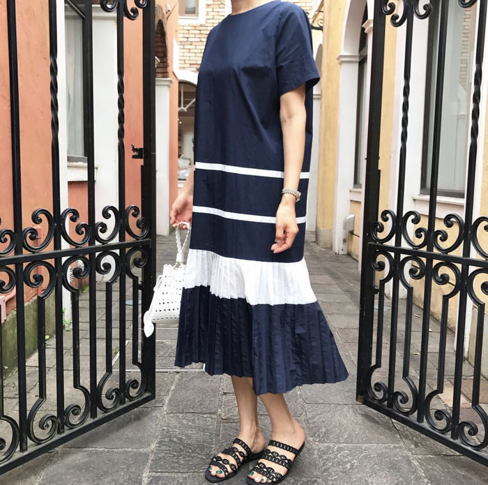 [2nd Restock] Saint Pleats Dress Navy