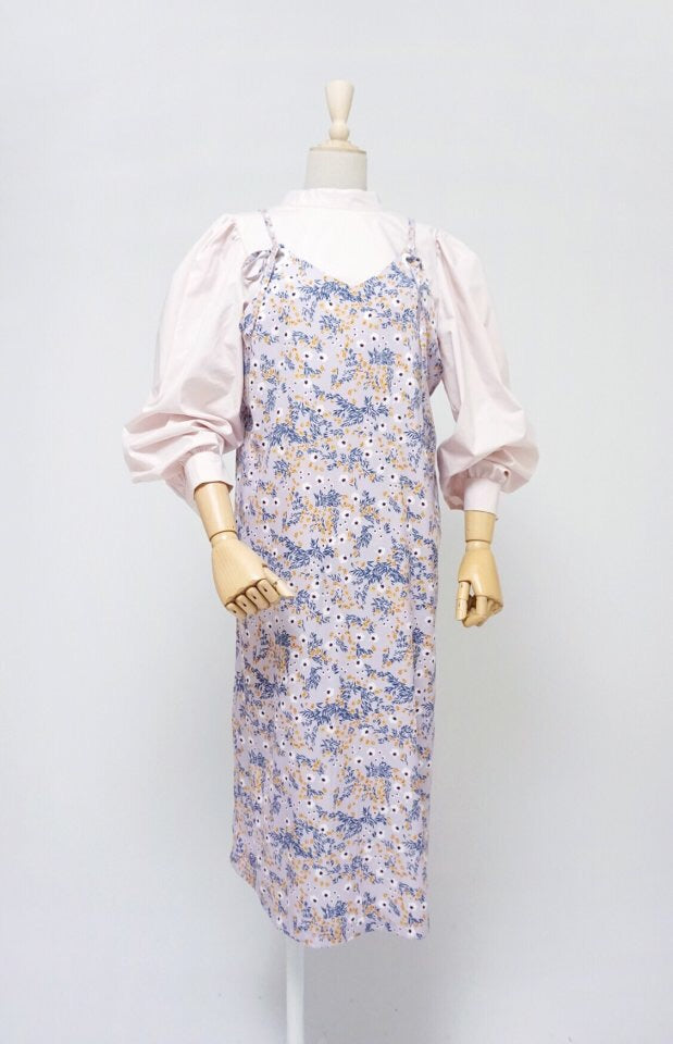[PREORDER] Ring Floral Dress Lilac