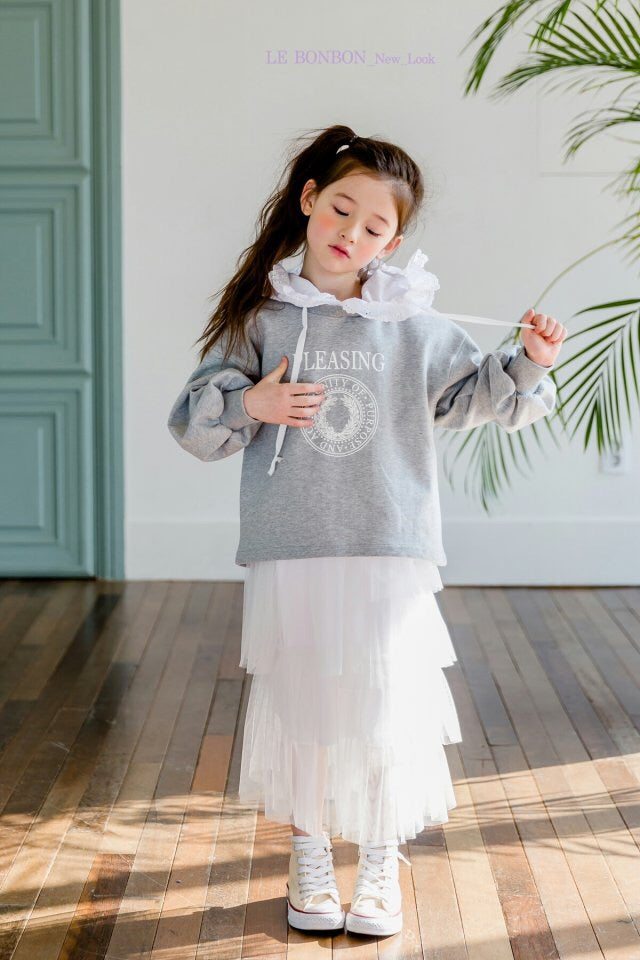 Crong Frill Hood Sweater Grey [Woman/ Girl]