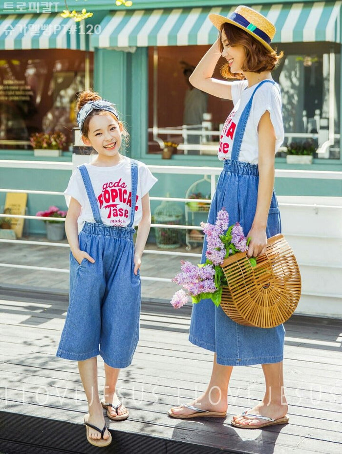 Denim Dungaree Girl
