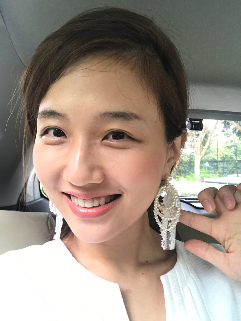 [PREORDER] Pearl Lace Earrings